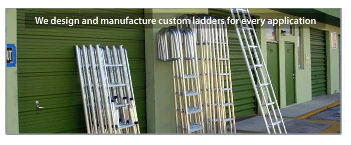 we make all sizes of custom aluminum ladders