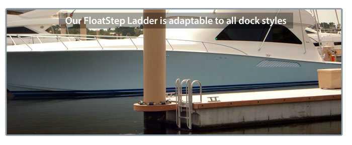 patent pending FloatStep ladder