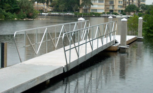 gangway and aluminum railings at FMCA show