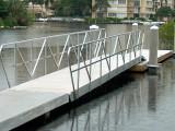 Aluminum Gangway with Truss Type Aluminum Handrail.