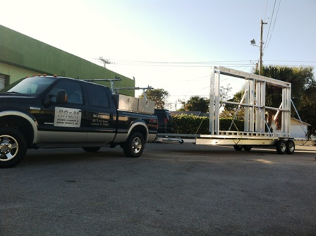Aluminum Floating Dock Frames for the Miami International Boat Show