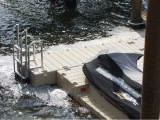 FloatStep® Ladder on EZ Dock Floating Dock System