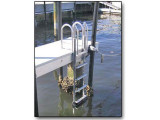 FloatStep® Dock Ladder in a S FL marina