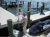 FloatStep® Ladder on a Fixed Dock from an EZ Dock