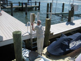 FloatStep® Ladder on Fixed Dock from EZ Dock