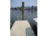 FloatStep® Dock Ladder on EZ Dock