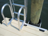 FloatStep® Ladder Sharing a Common Pocket with Piling Bracket