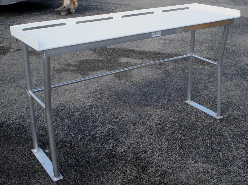 Tuna tables fish cleaning tables atlantic aluminum marine for Fish cleaning board