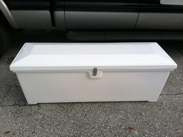 Dock Storage Box With Raised Lid