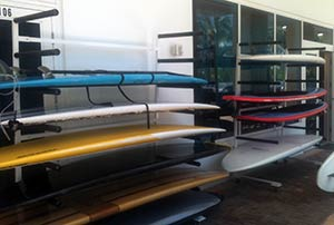 picture of commercial SUP paddle board racks