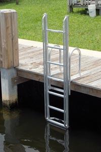 Aluminum Dock Amp Seawall Ladders Atlantic Aluminum Marine