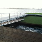 custom gangway and floating dock