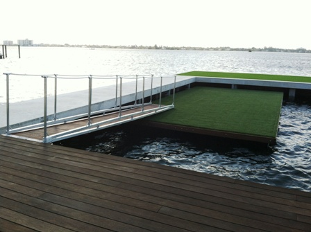 custom floating dock and gangway