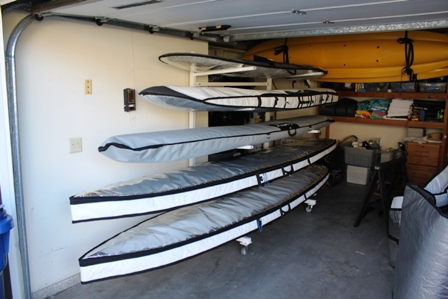 another view of an SUP Board rack