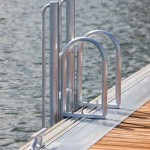 floatstep ladder installed on Technomarine dock