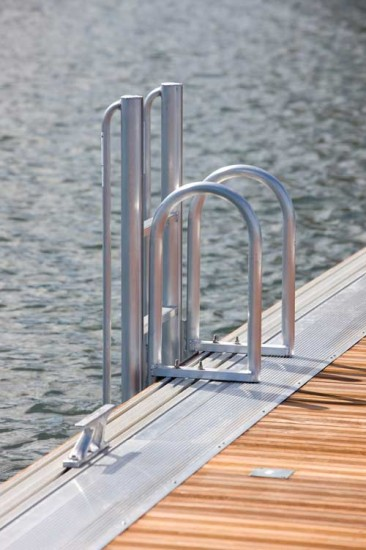 floatstep ladder installed on Technomarine dock - see our new catalog for more information