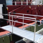 aluminum boarding ramp for tugboat