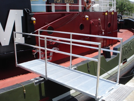 news for an aluminum boarding ramp for a tugboat