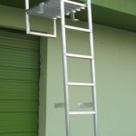 custom aluminum wall ladder
