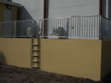 Aluminum Railings with Aluminum Access Ladder