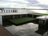 Floating Dock with Artificial Turf Grass
