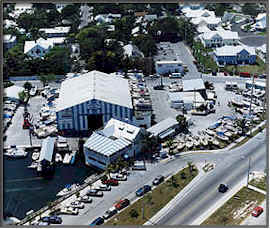 aerial view of city of key west