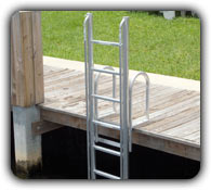 lift or retractable dock and seawall ladder
