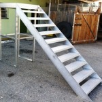 Aluminum Boarding Staircase for Mooring Products of Pompano Beach, Florida.