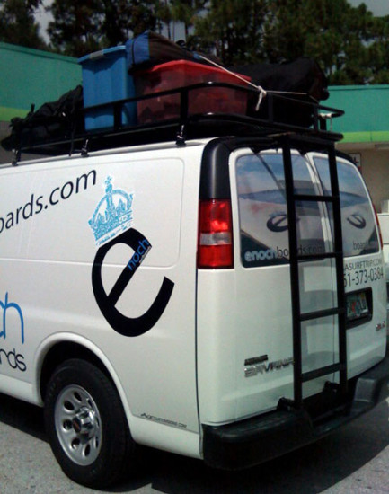picture of Enoch Surfboards van