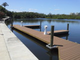 aluminum floating docks with composite decking