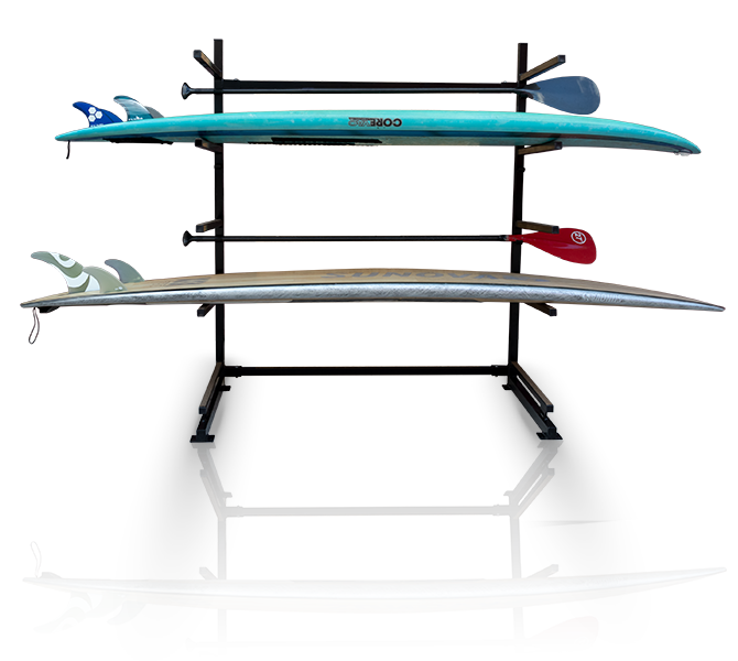 sup rack black 4 board movable